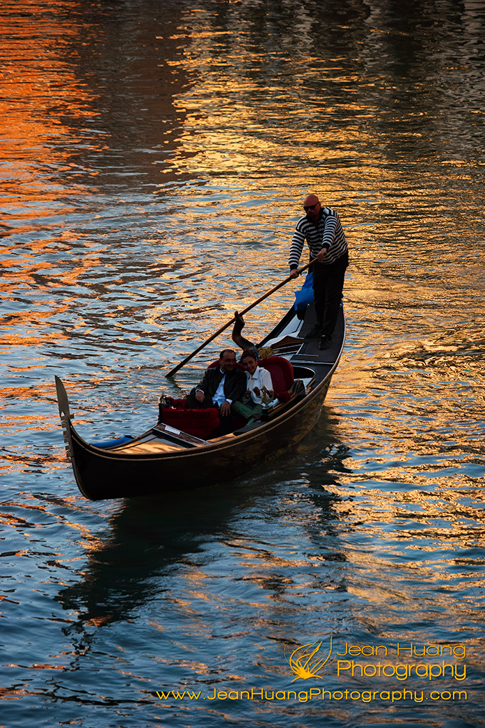 Gondola-in-the-Warm-Hues-of-Reflections-Venice-Italy-Copyright-Jean-Huang-Photography