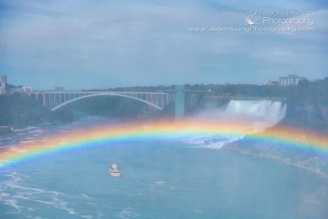 Rainbow-Floating-in-Front-of-Rainbow-Bridge-Niagara-Falls-Canada-Copyright-Jean-Huang-Photography