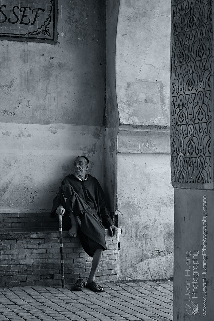Old-Man-at-Ben-Youssef-Medersa-Marrakesh-Morocco-Copyright-Jean-Huang-Photography