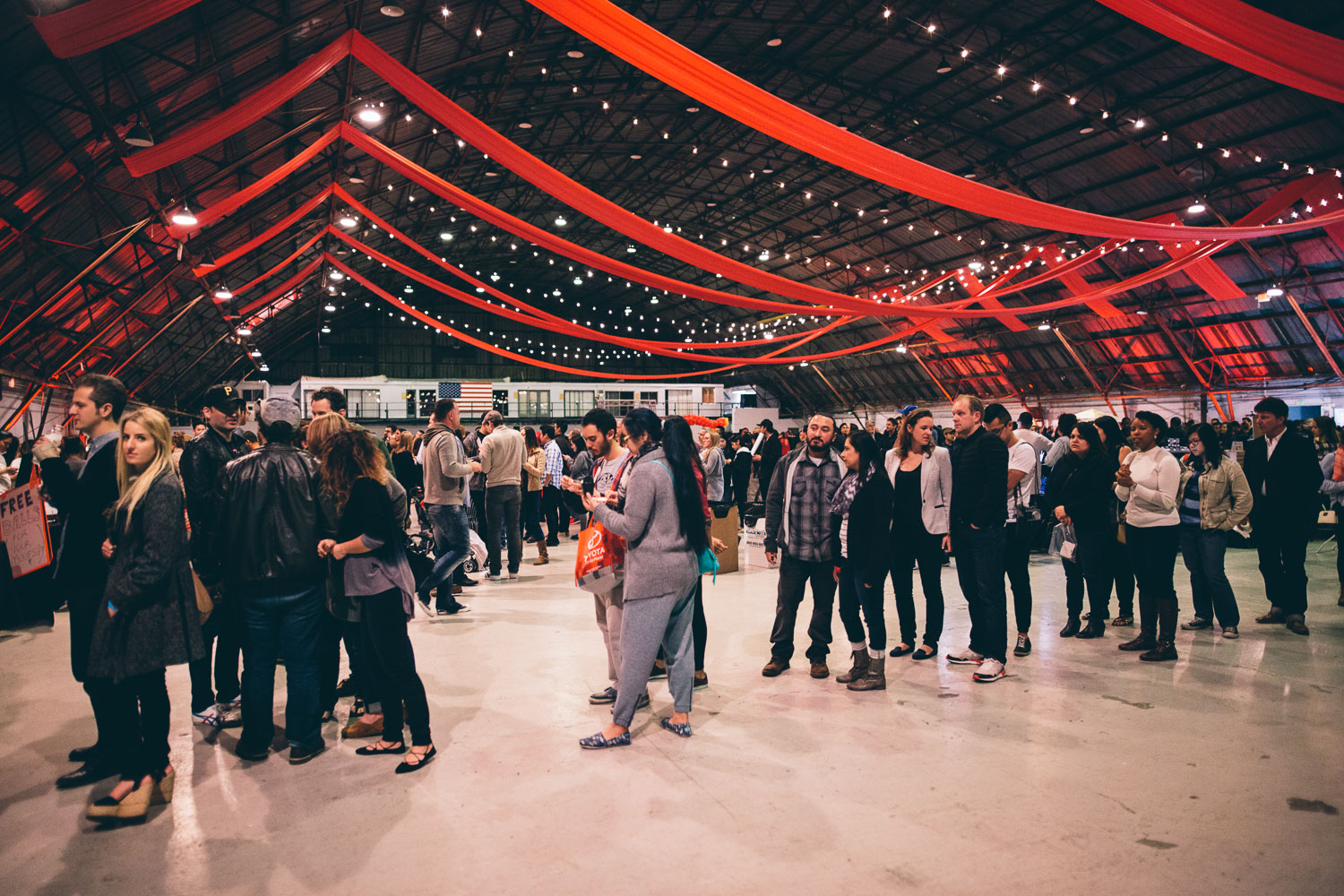 Long lines and elegant streamers at the Taste of Night Market