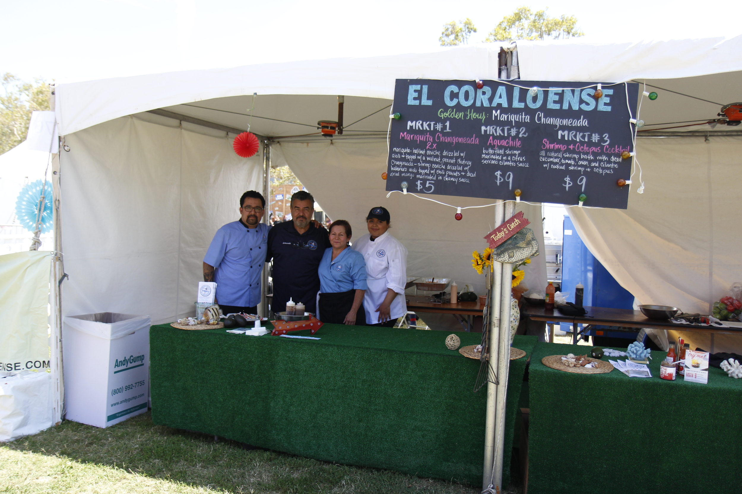 We met this awesome team of chefs cookin' up high quality seafood. Check their restaurant out!