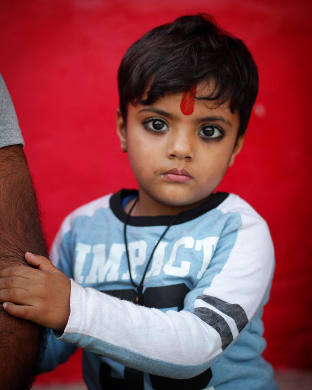 My camera adopted this kid's face.— in  Pushkar .
