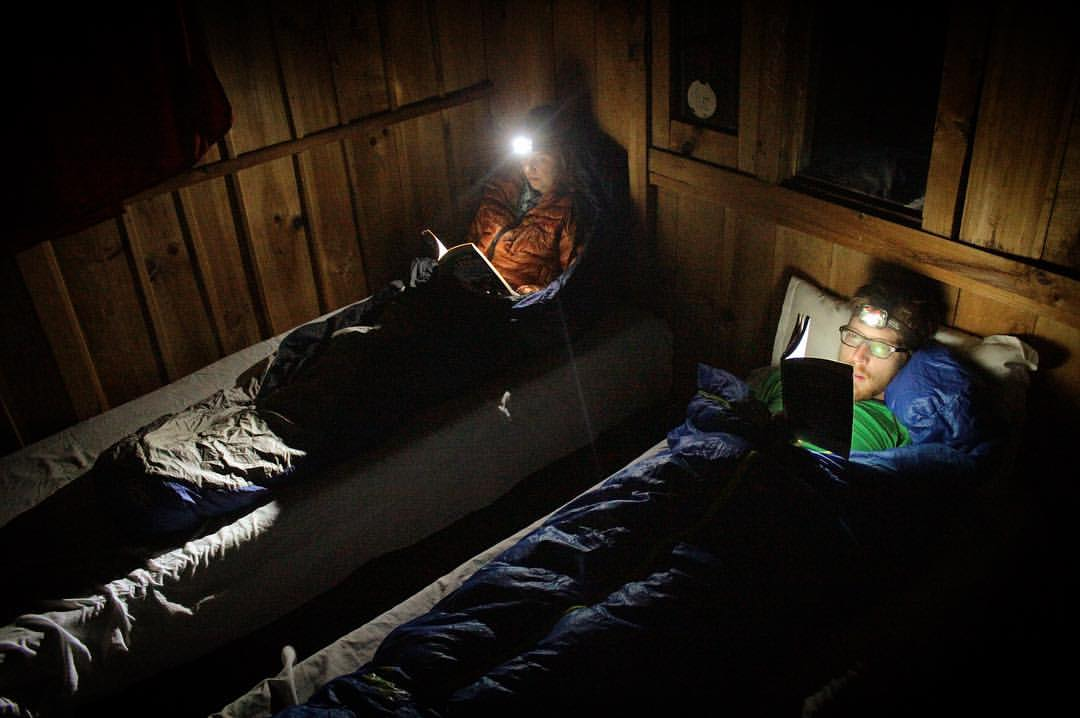 After trekking all day, sometimes our reading rager parties went way past 7:15.— at  Manaslu Circuit Trek .