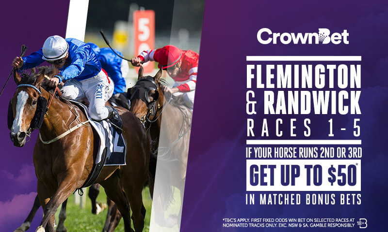 Money back offer races 1-5, plus the nominated BEST VALUE in race 8 below, meaning money back for 2nd/3rd offer for 6 of the 9 races at Flemington. Excellent insurance.