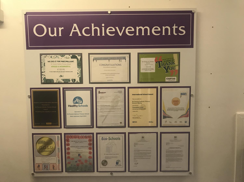Photo: Example showing awards inside document holders