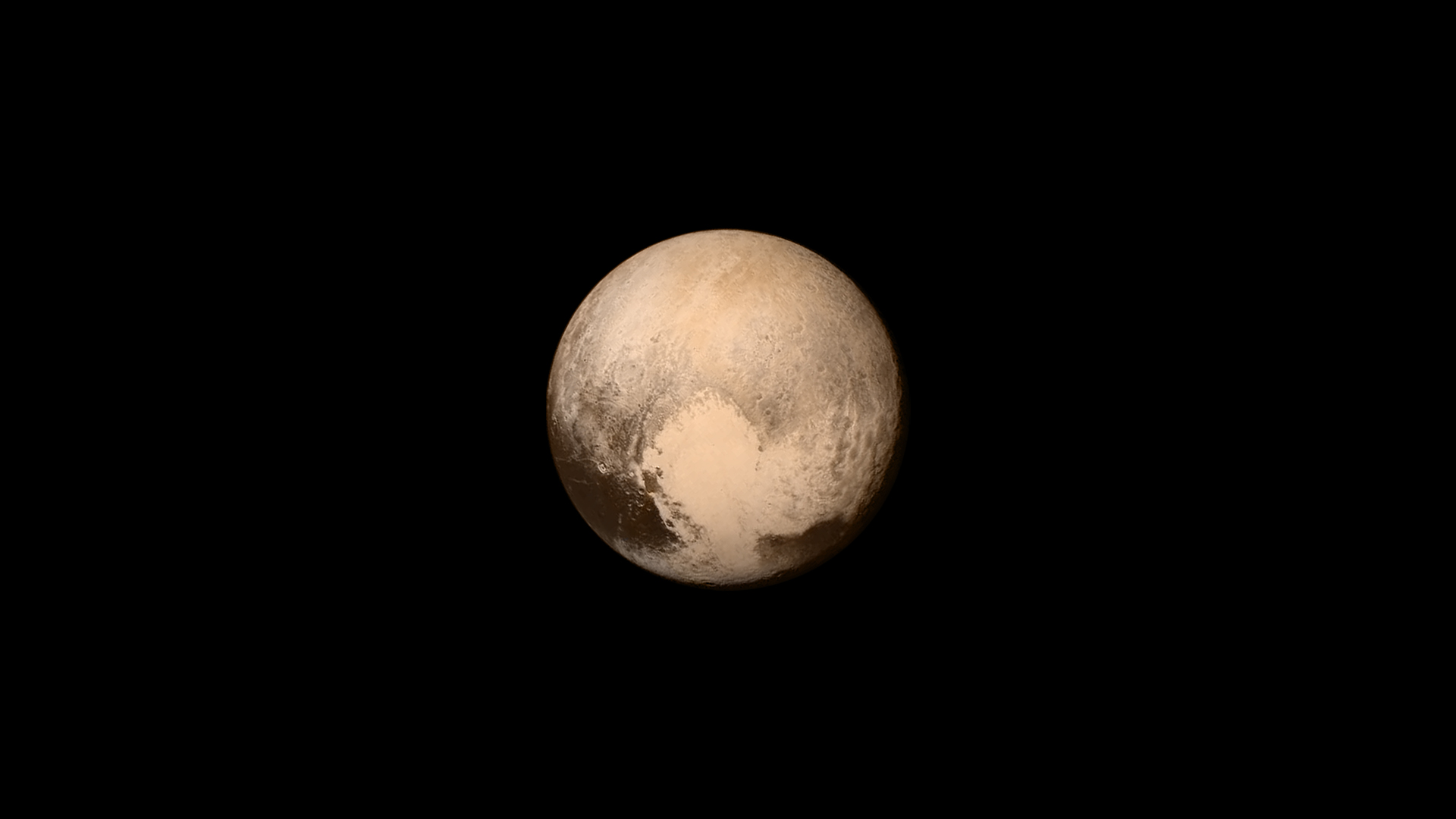 Pluto as seen in July, 2015