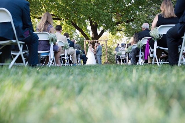 I love outdoor weddings! jaimyn+jon's took place under a beautiful oak at Cedar Creek. What is the most romantic outdoor wedding location you've seen?