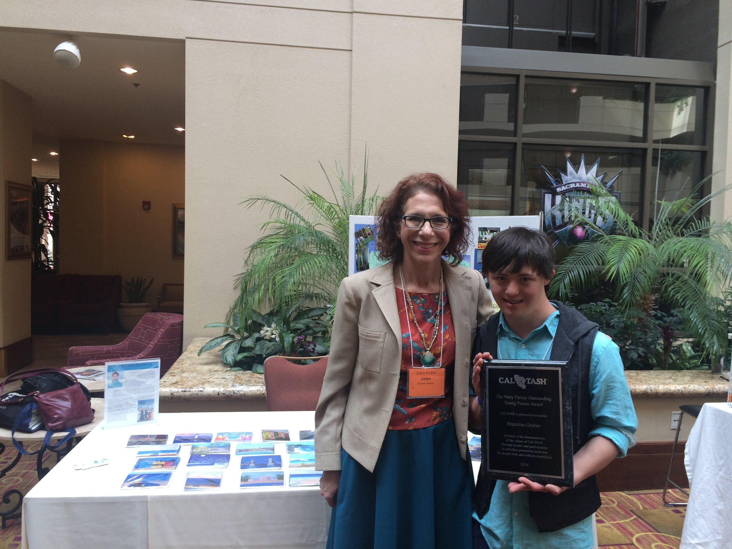 Cal TASH Mary Falvey   Outstanding Young Person Award 2016