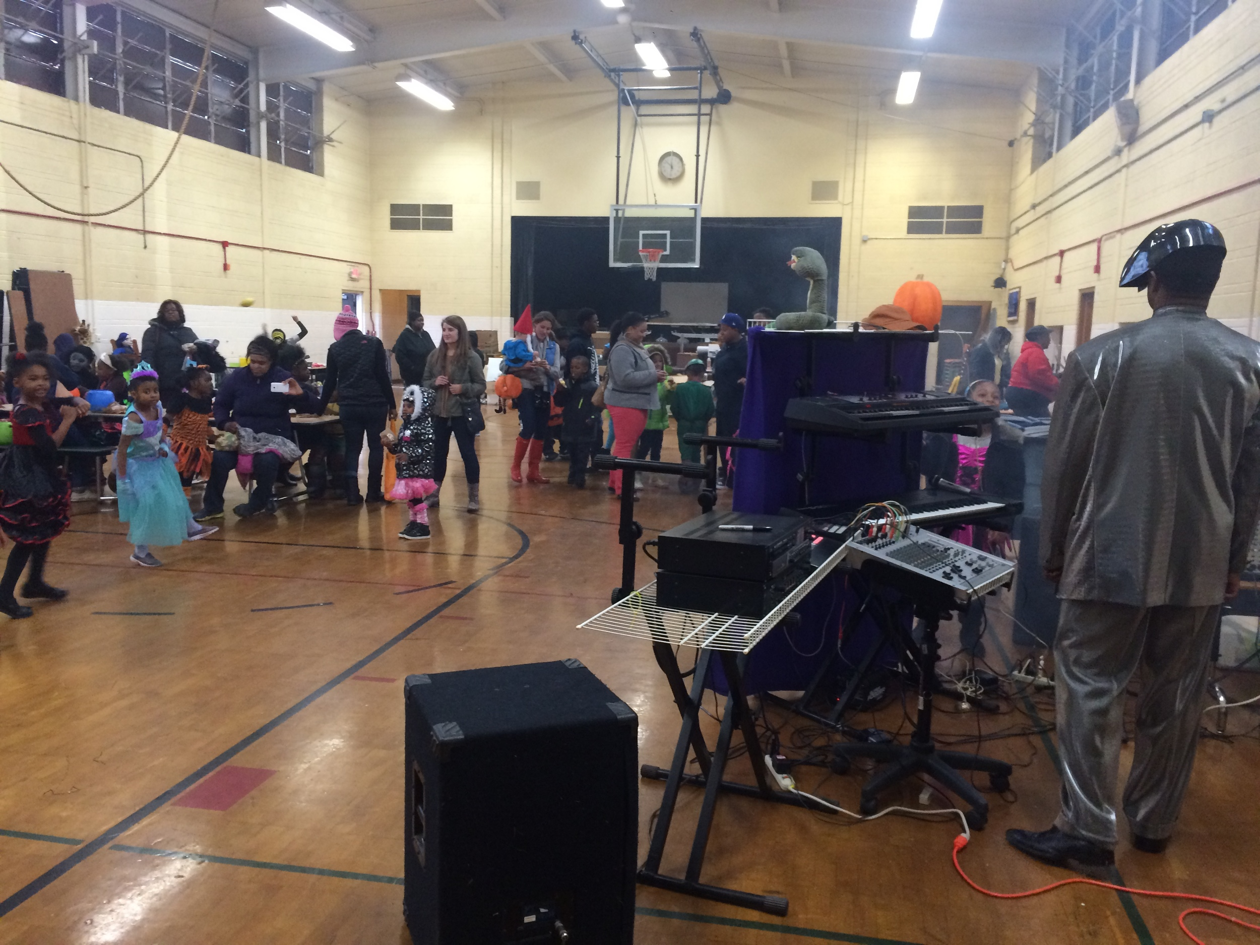 DAA students having a blast at the Harvest Festival thrown by DAA's parents in October.
