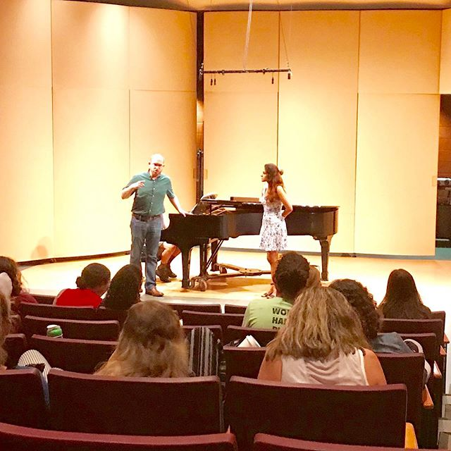 Thank you @vocalauditionadvantage for the opportunity to work with your amazing singers in a master class! #vaa2019 #vocalauditionadvantage #masterclass