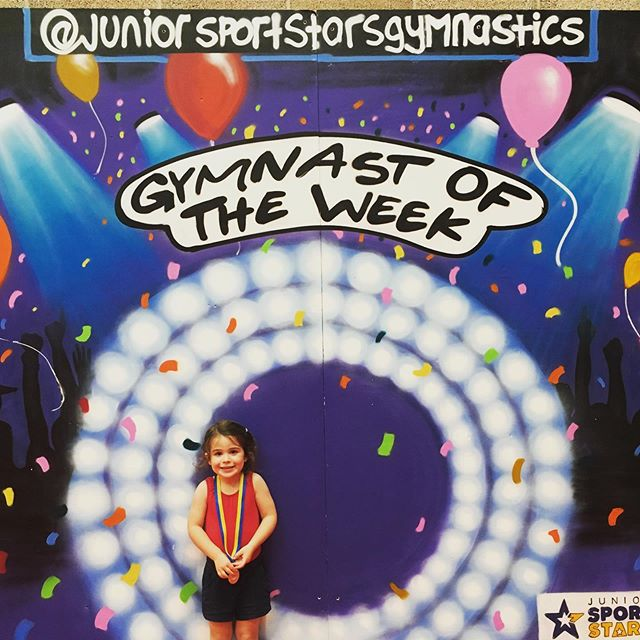 Proud Parent Moment Harriet worked really hard this week at Gymnastics 🤸‍♂️ and was lucky enough to win Gymnast of the Week @juniorsportstarsgymnastics 🥇