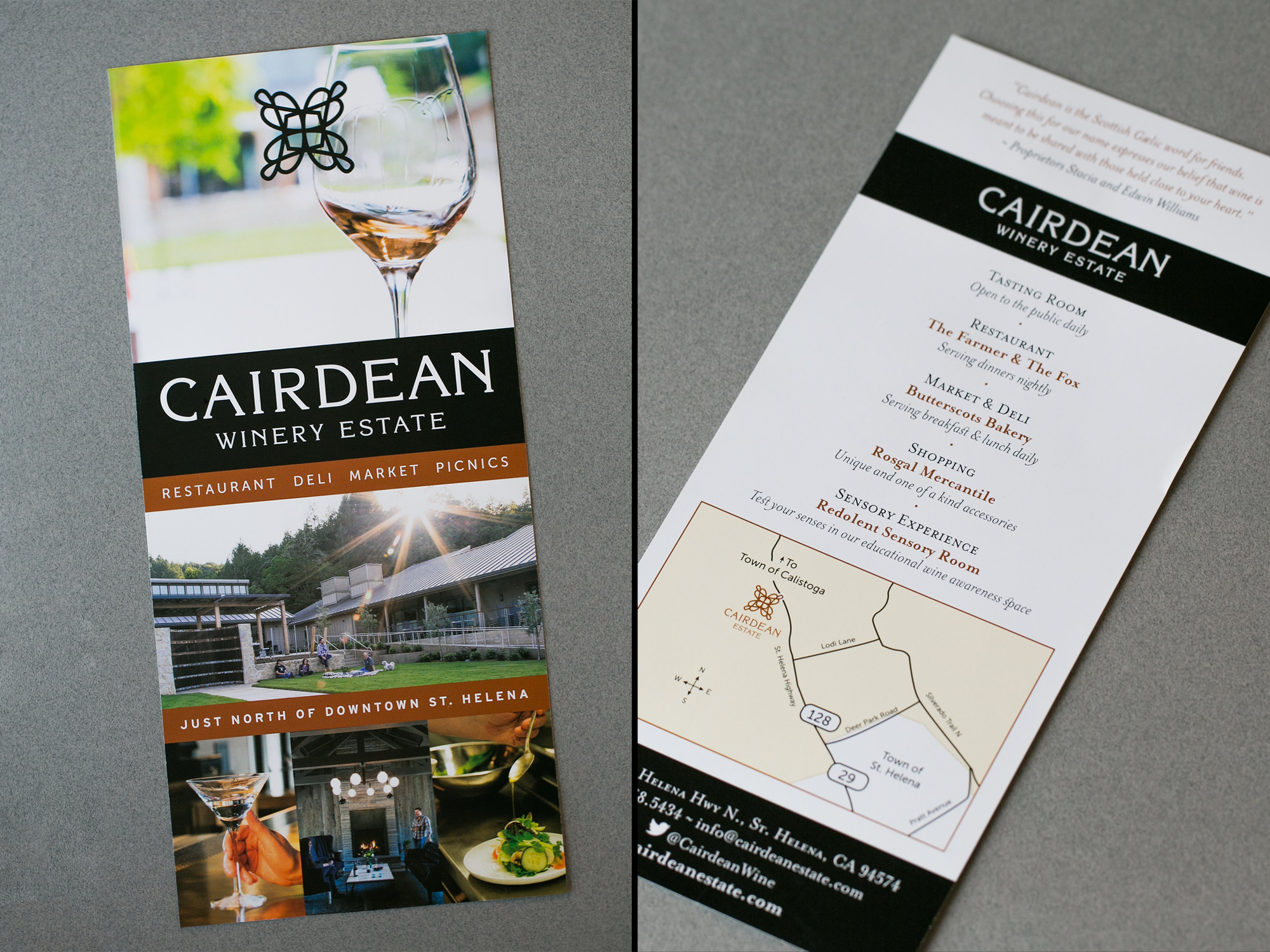 Rack Card Design for Napa Valley Winery
