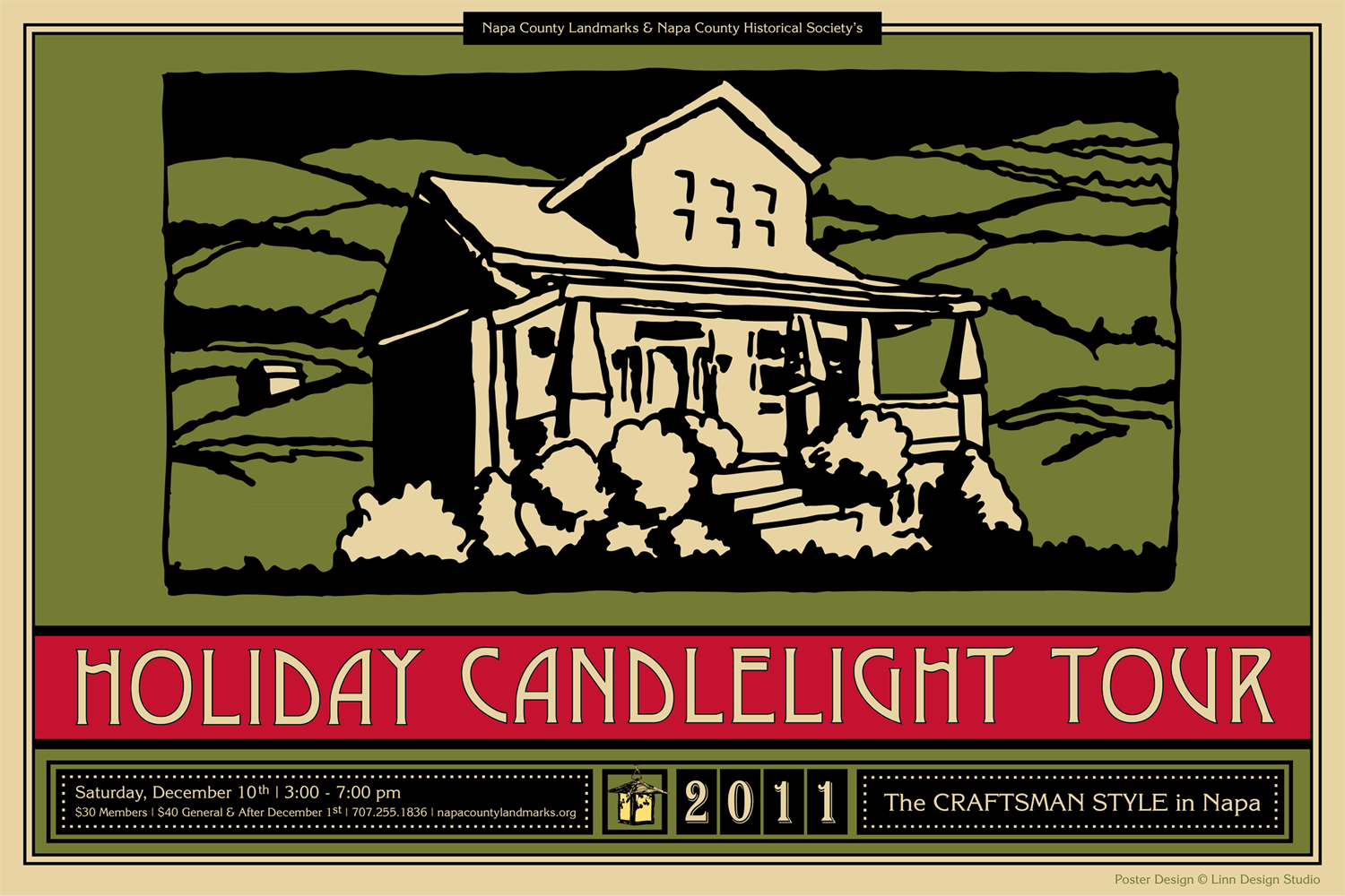 Poster Design for Napa County Landmarks Home Tour