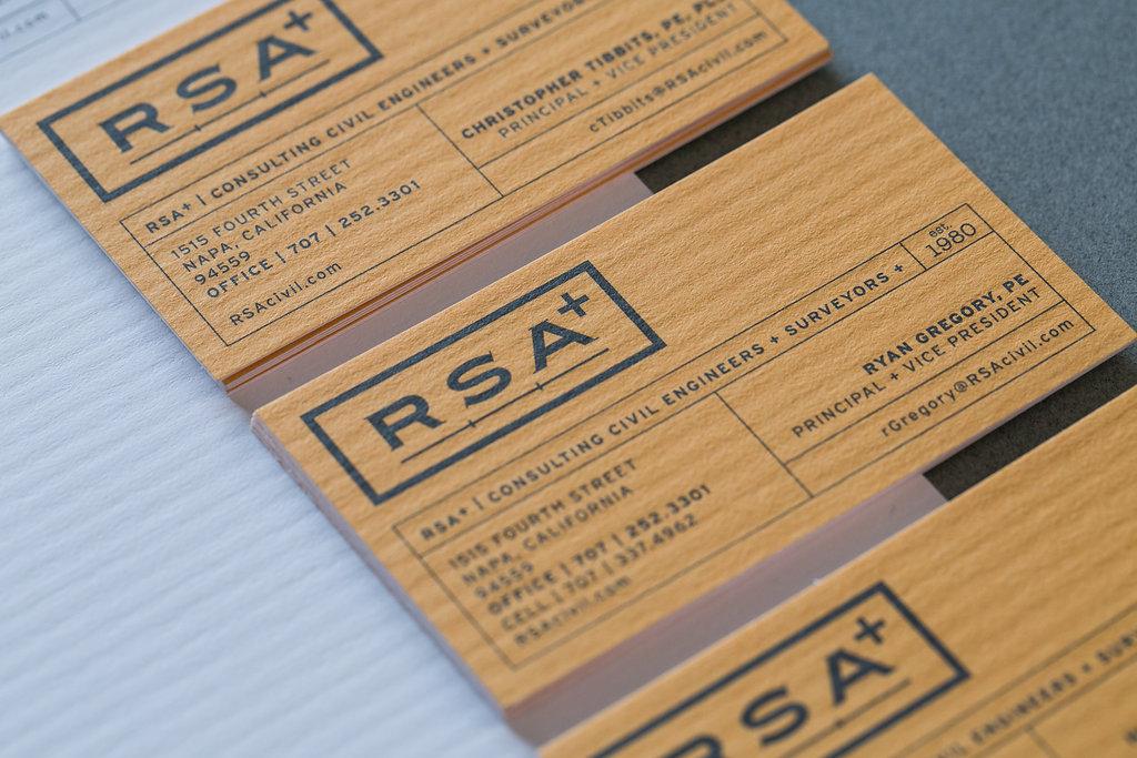 RSA+  business card design