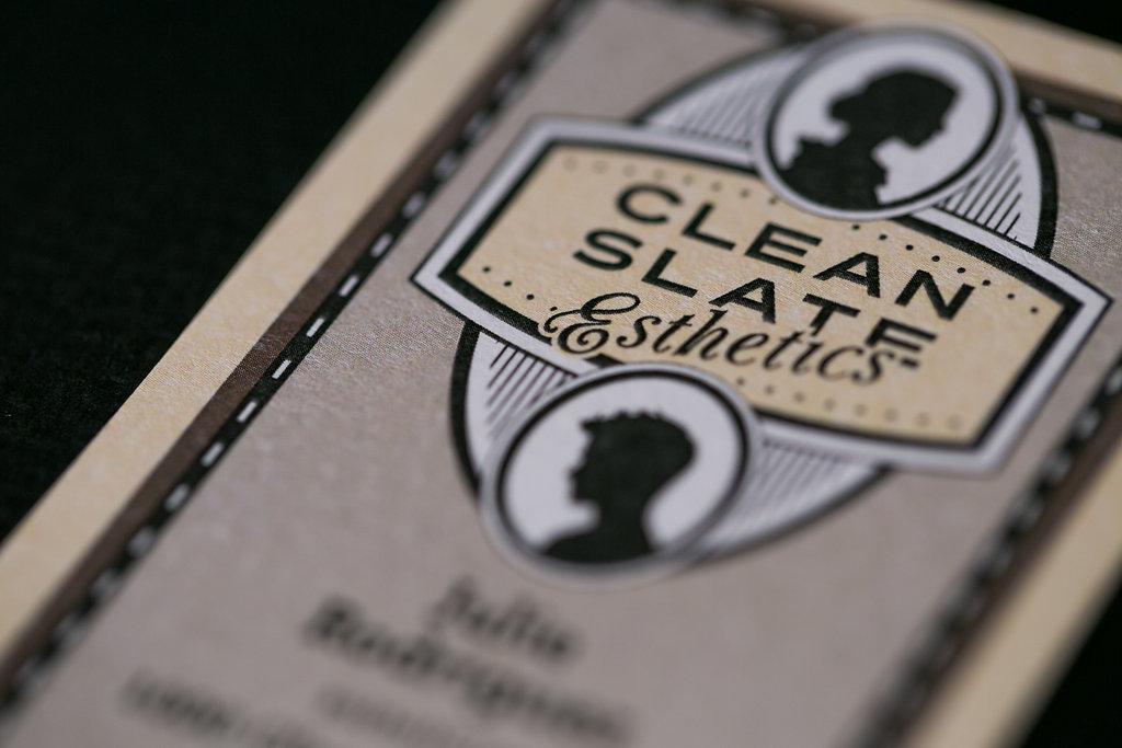 Business Card Design | Clean Slate Esthetics