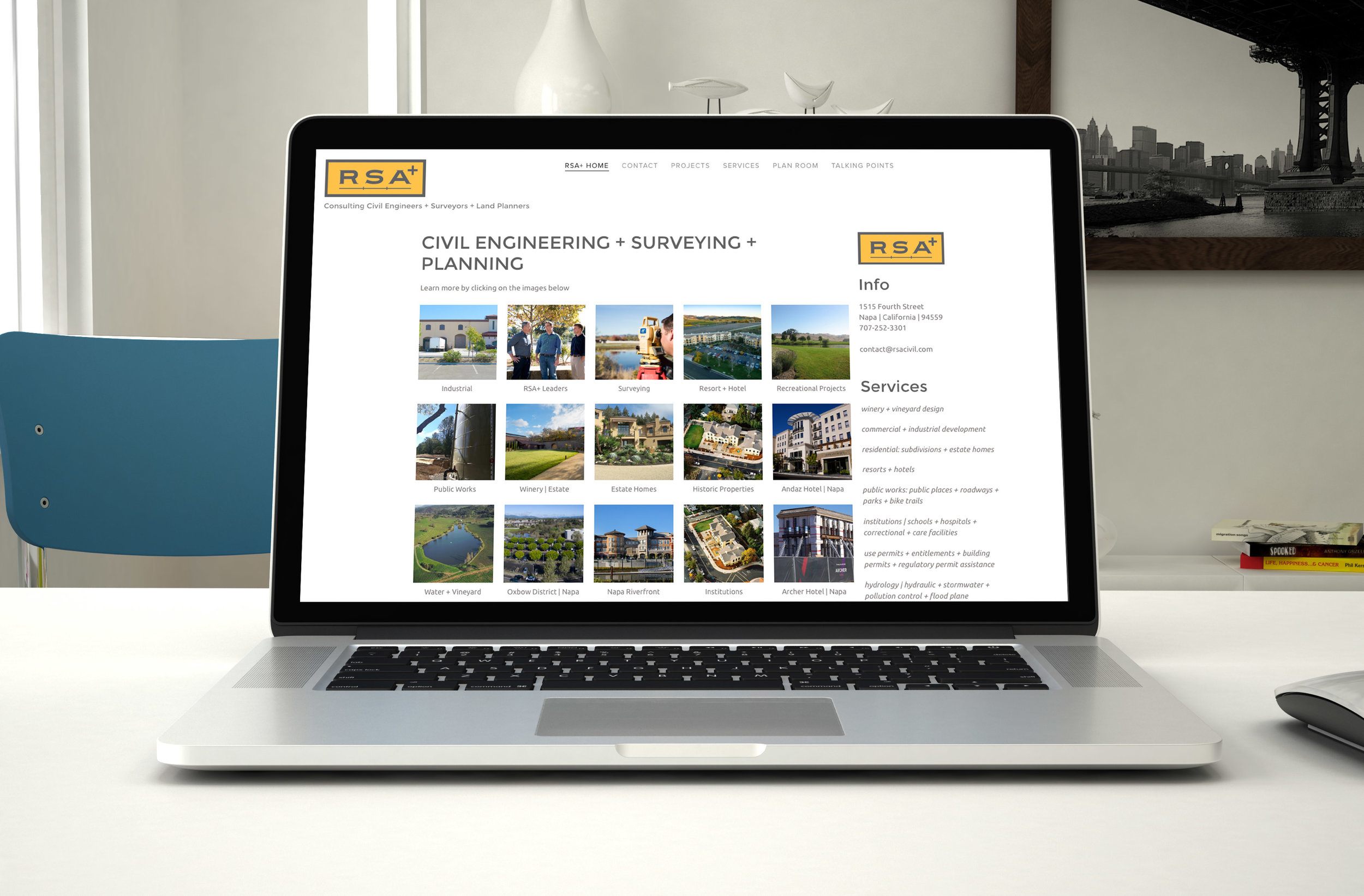 Napa Small Business Website Redesign