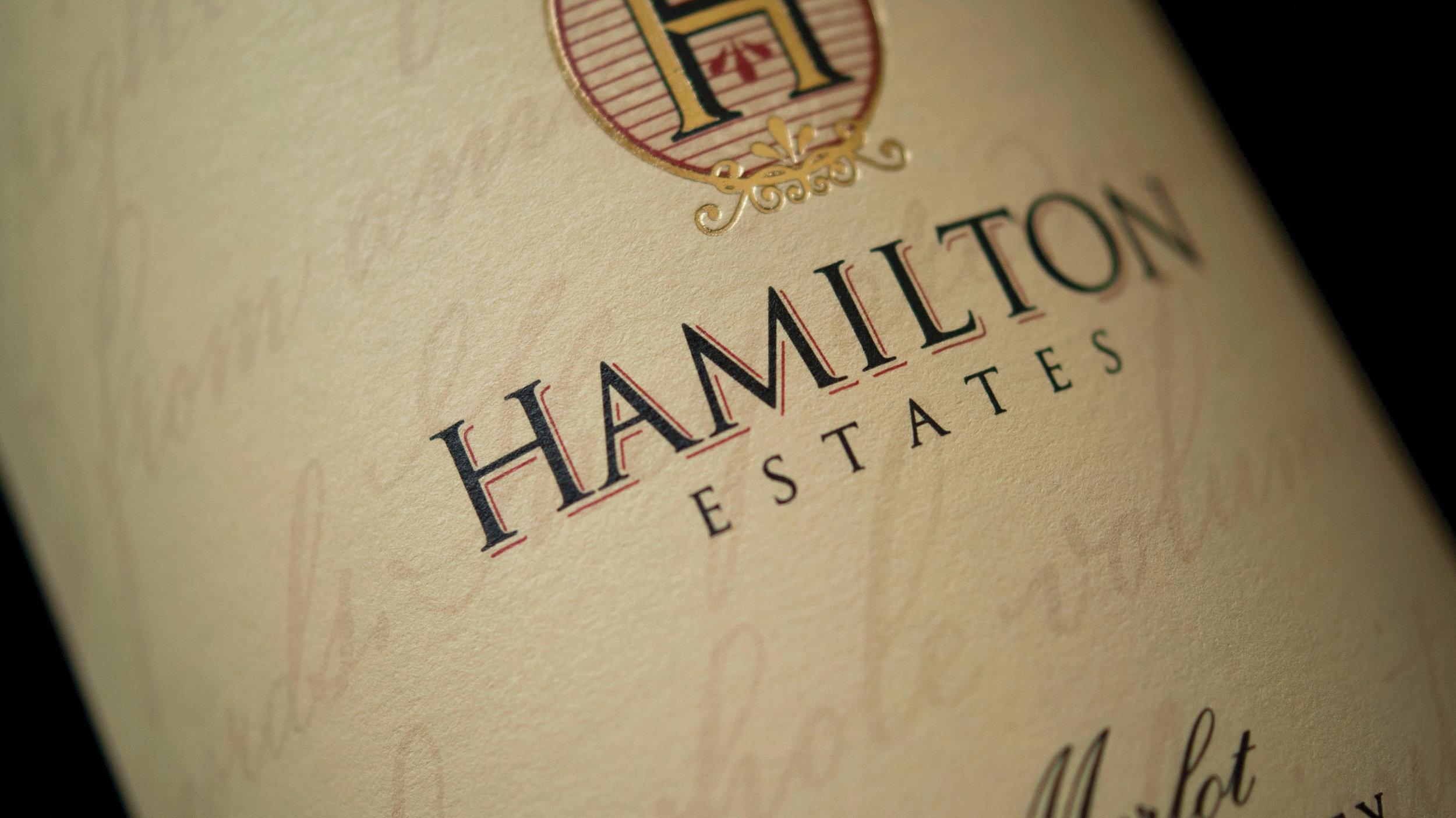 Hamilton Estates | Wine label design