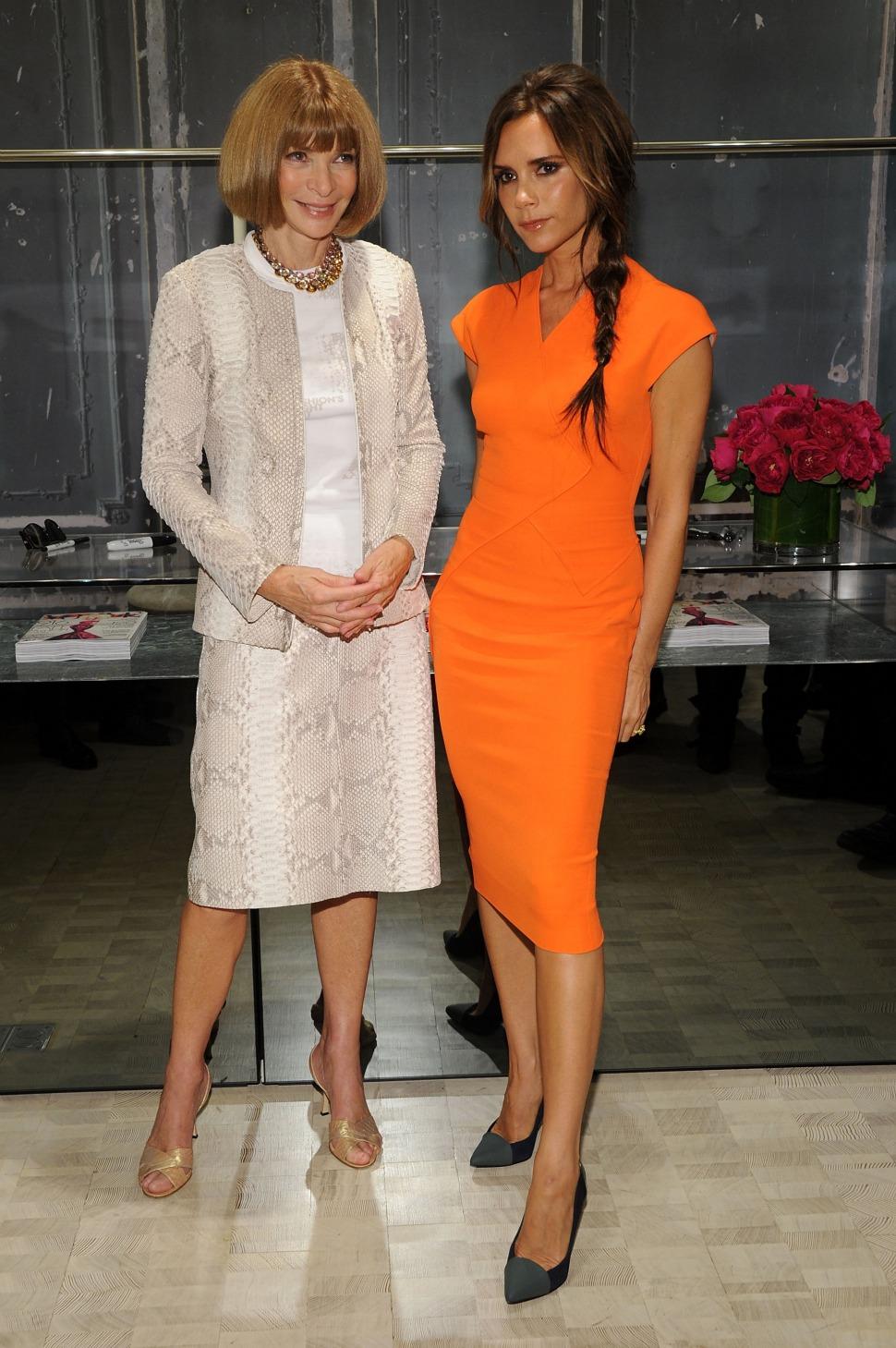 Anna Wintour with Victoria Beckham.