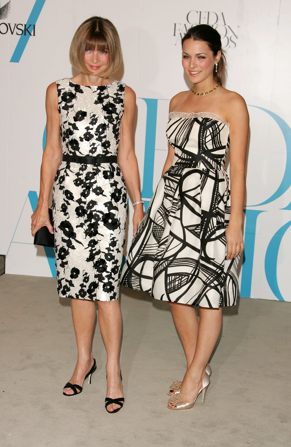 Anna Wintour with her daughter Fanny del Valle Wintour