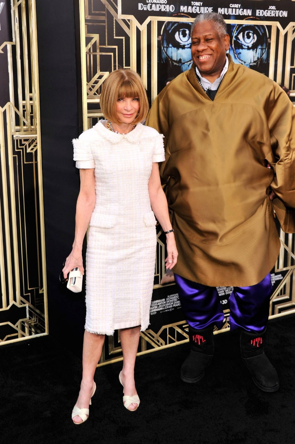 Anna Wintour with Andre Leon Talley in Grand Gatsby Premiere 2013.