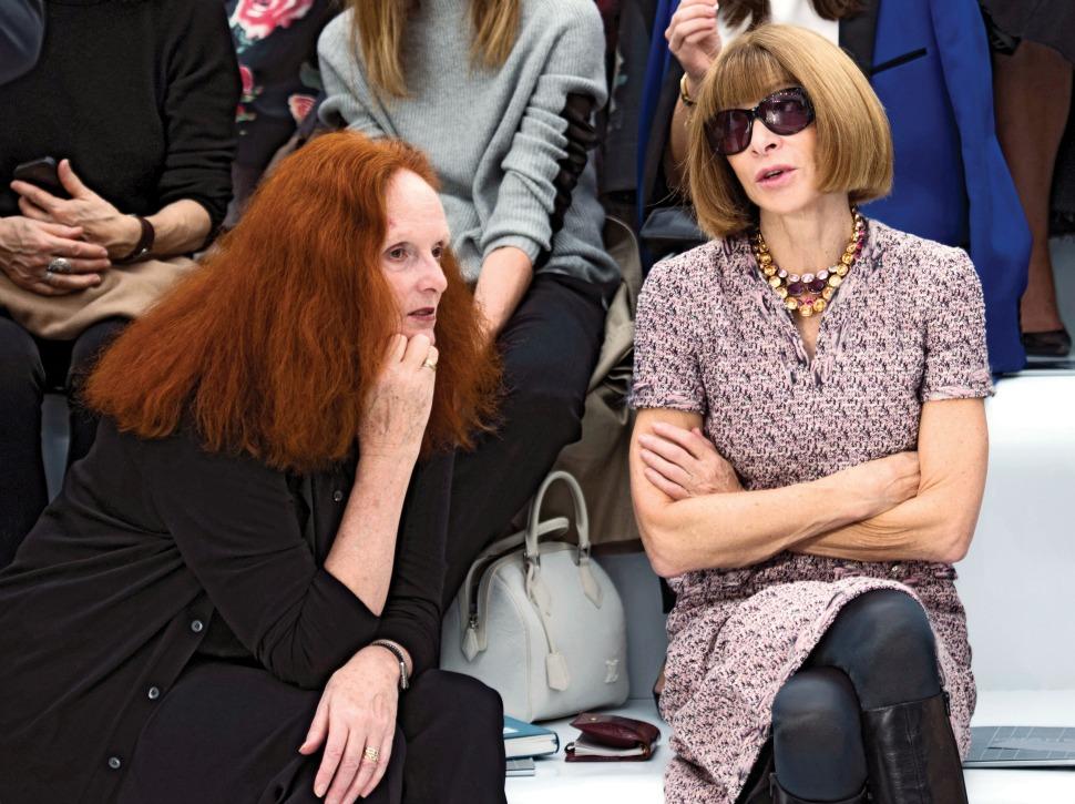 Anna Wintour and Grace Coddington creative director Vogue US.