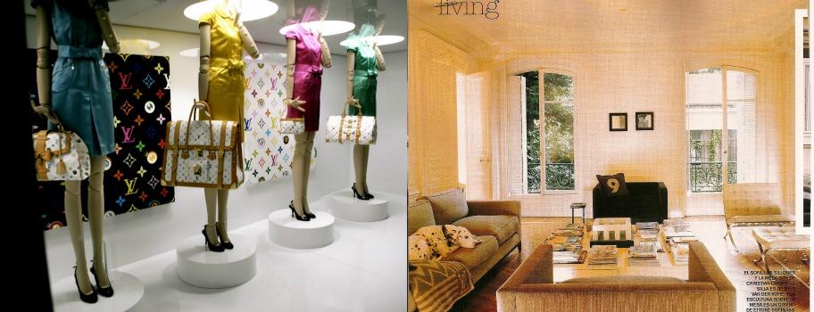 1. Su exposición en Les Arts Décoratifs en Paris./His exhibition at Les Arts Décoratifs in Paris. 2. Salón de la casa de Marc en París./ Living Room in Marc´s House in Paris.