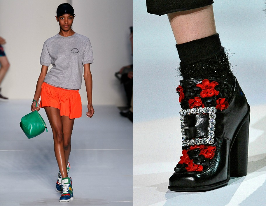 Desfile y zapatos de su marca./  Parade   and shoes   of him brand.