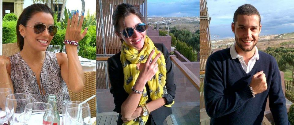 1. Eva Longoria. 2. Malena Acosta. 3. Mario Suarez (Spanish Football Player).