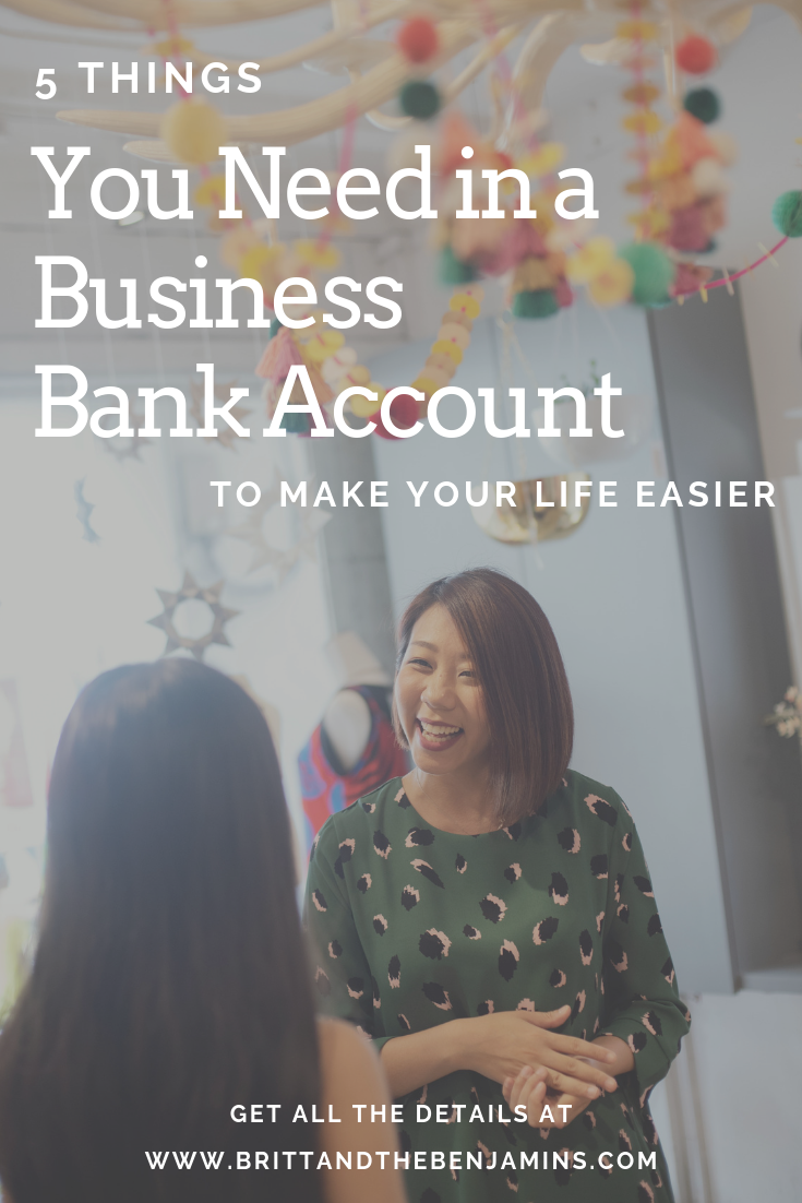 5 things your business bank account needs