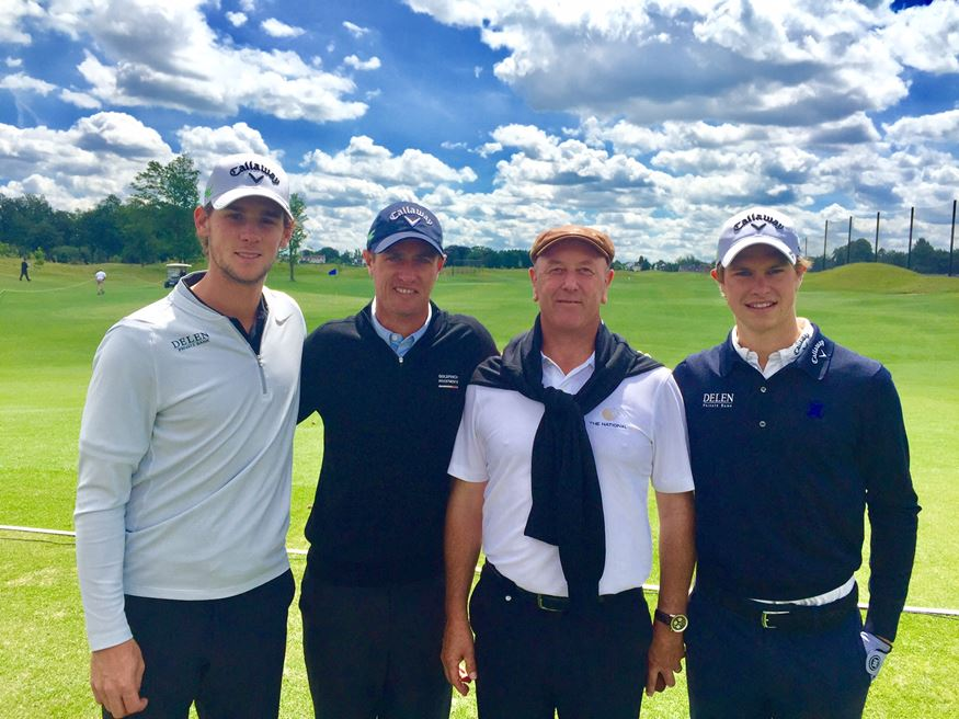 - Pieters,Colsaerts, Steensels (Course Architect) - Detry at the inauguration of the recently opened National Golf Club in Sterrebeek.
