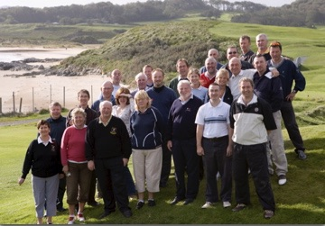 egtma members during The first egtma trip back in 2006 - pictured at Portsalon golf club, part of the north & west coast links challenge.