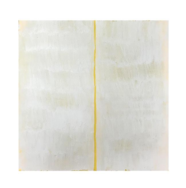 No es una línea amarilla. 2019. Óleo sobre lienzo. 50 x 50 cm.