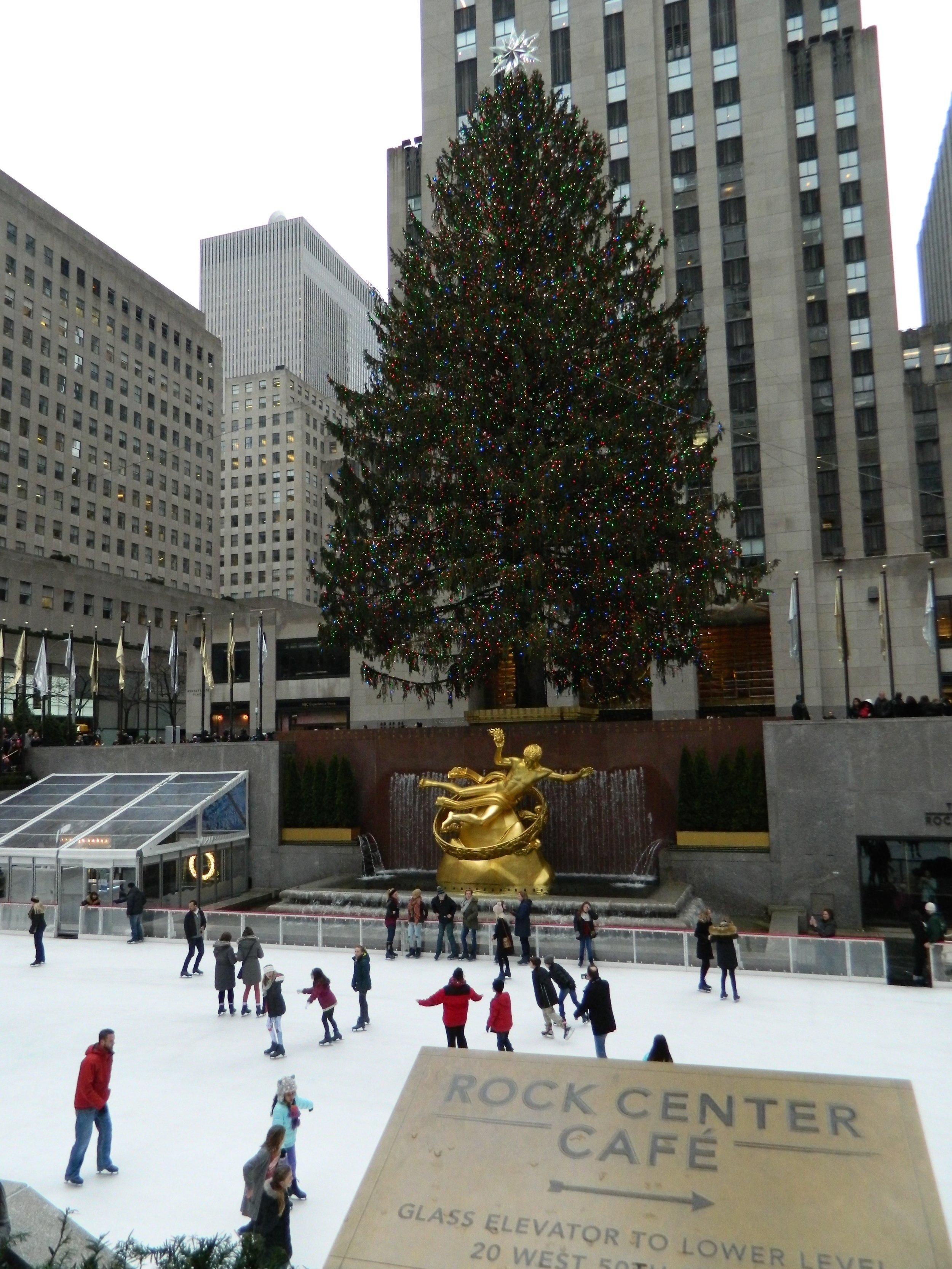 The gorgeous tree in Rockefeller Plaza