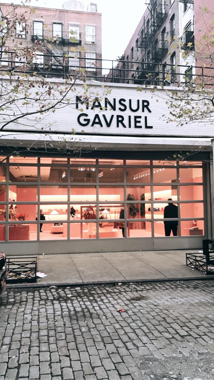 A Mansur Gavriel pop up shop in SoHo