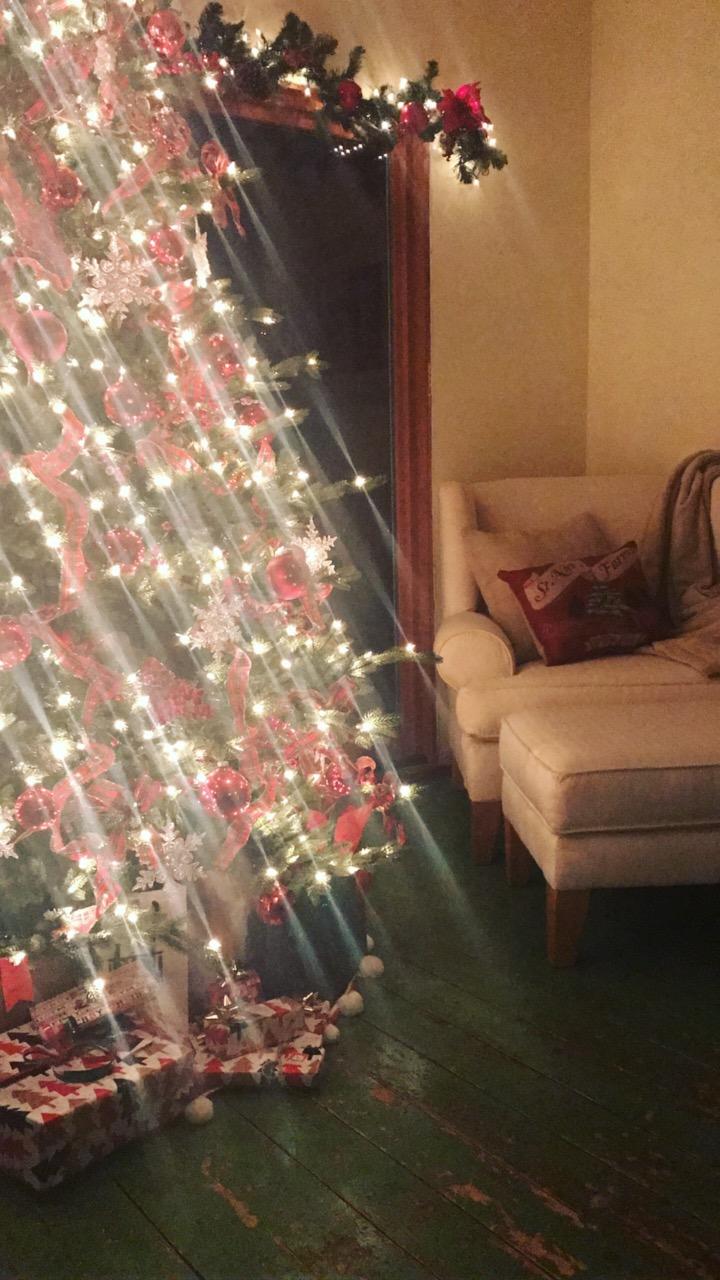 My mom's beautiful Christmas tree!