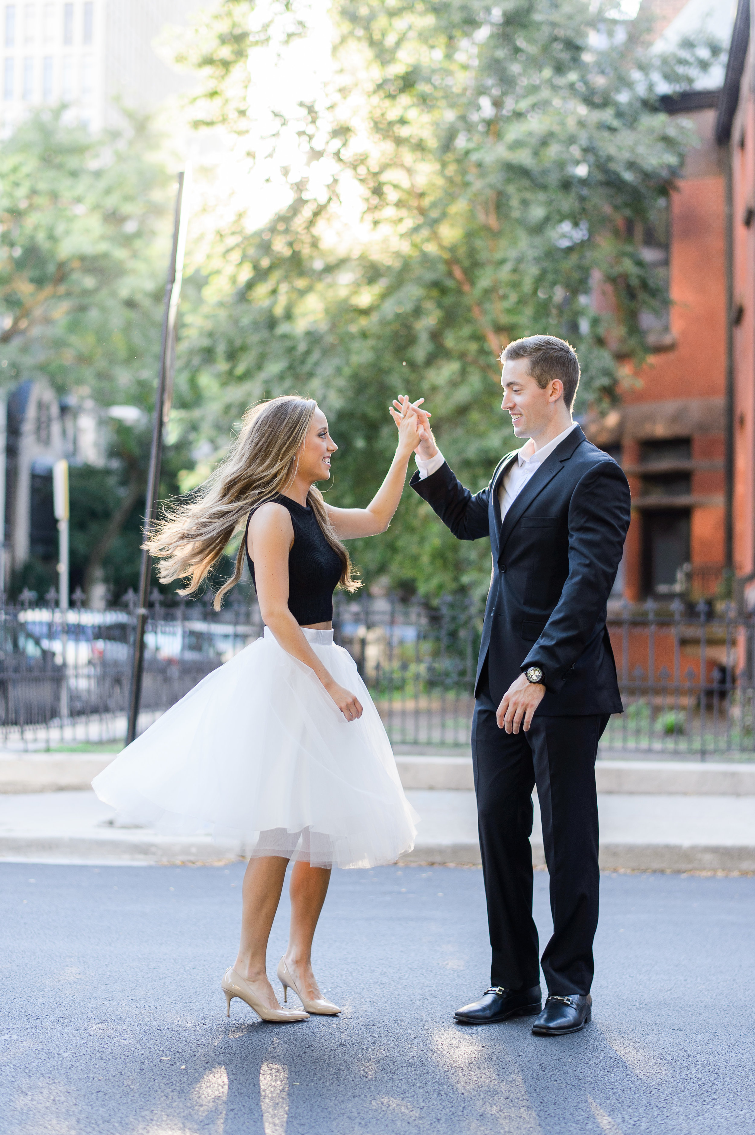 Ben and Ailie's engagement photos are so dreamy and magical! I just loved the twirling shots of Ailie's tulle skirt!