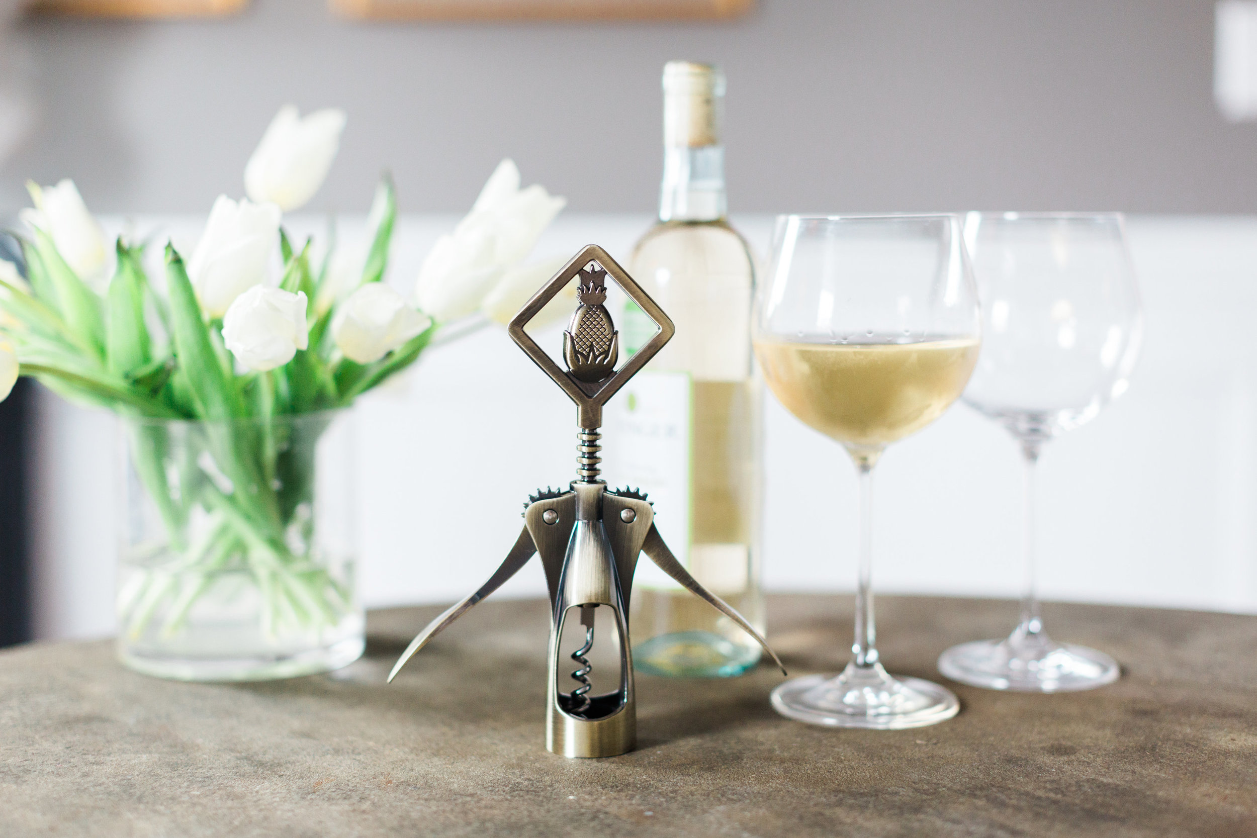 Adorable pineapple wine opener by  Greenville Society . 2017.