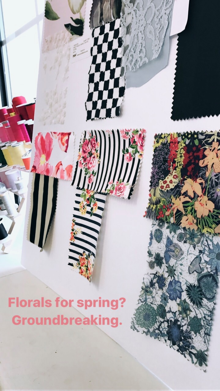 Sourcing fabrics and collecting swatches with a little  Devil Wears Prada  fun!