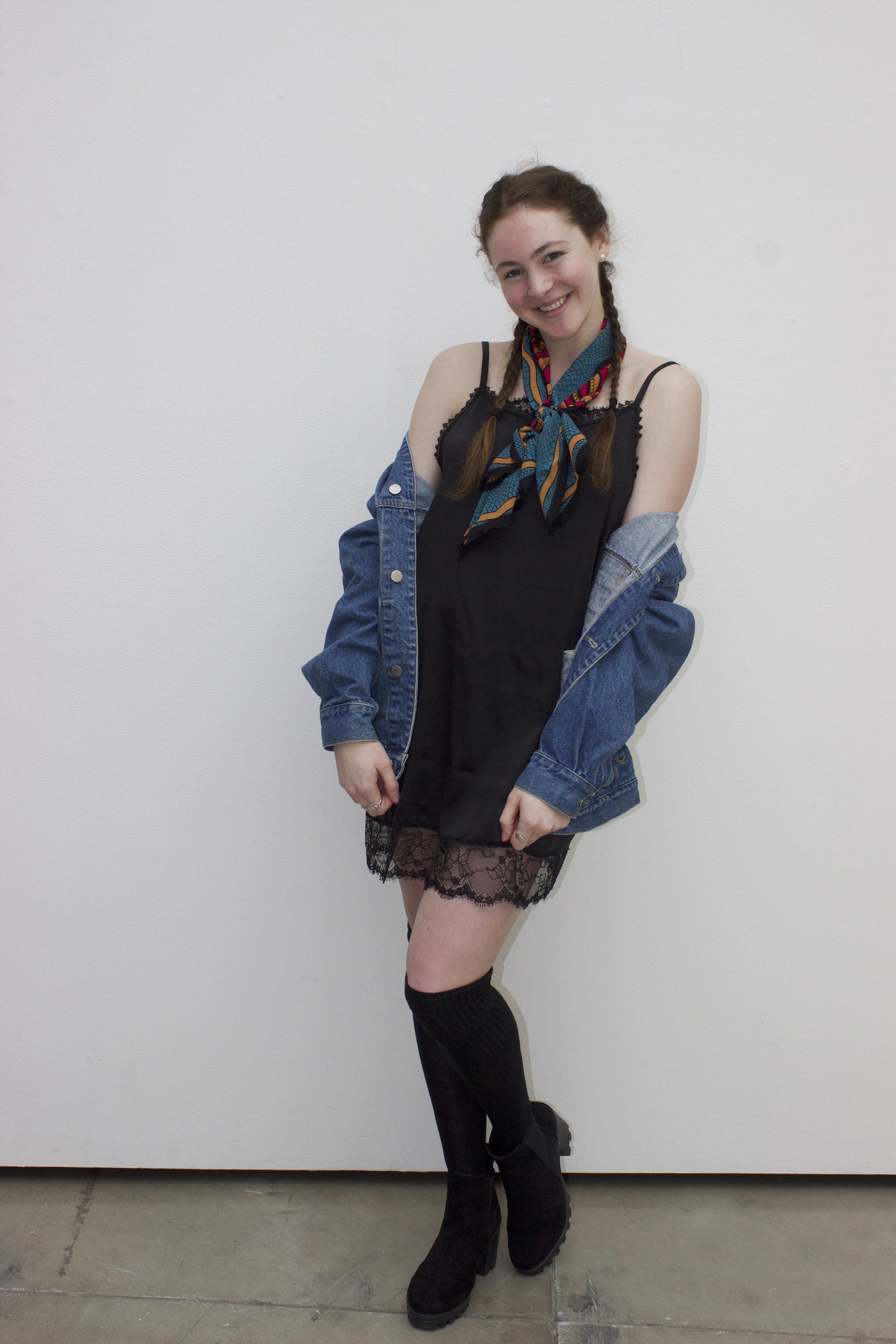 "Reilly Koch wearing the Madalyn Joy ""Reilly"" slip dress photographed by Kelsey Daykin in Madison, WI. 2017."