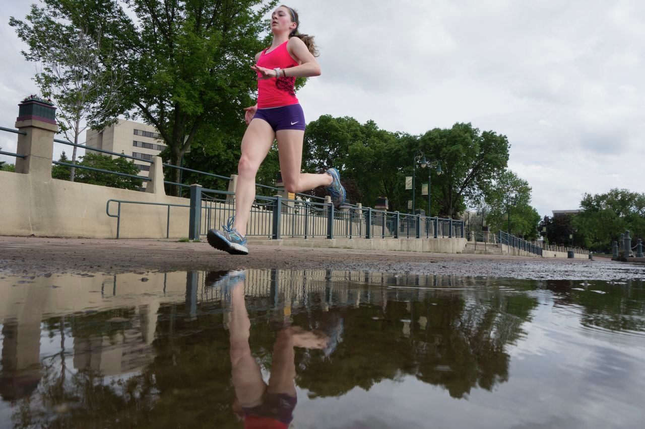 Reilly was a competitive runner in high school but now enjoys running as a hobby.