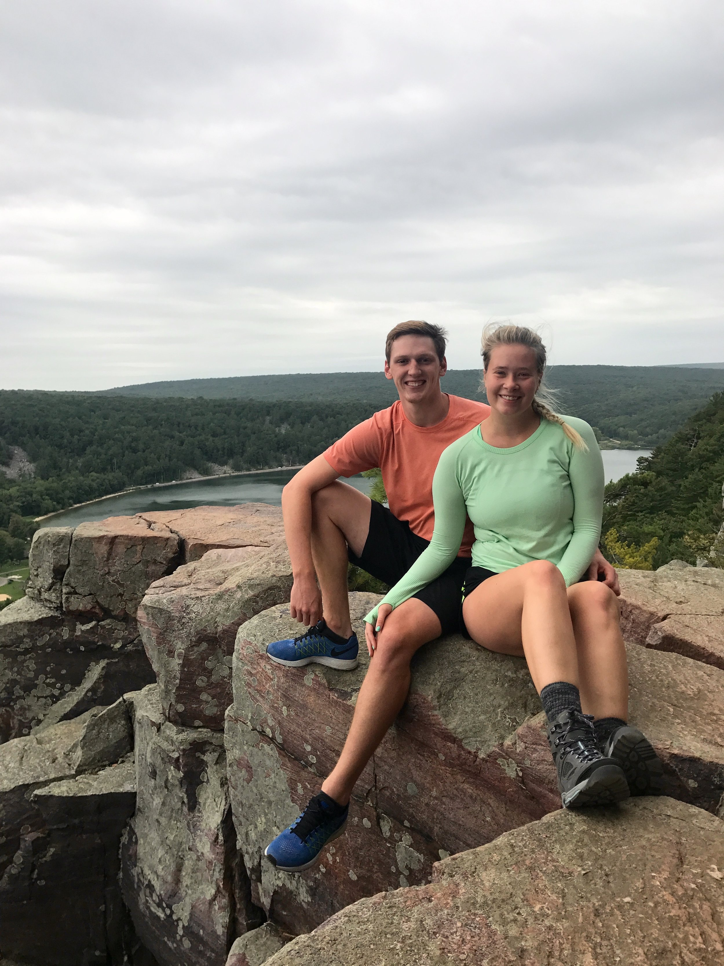Claire and her boyfriend, Colin, hiking at Devil's Lake over Labor Day weekend.