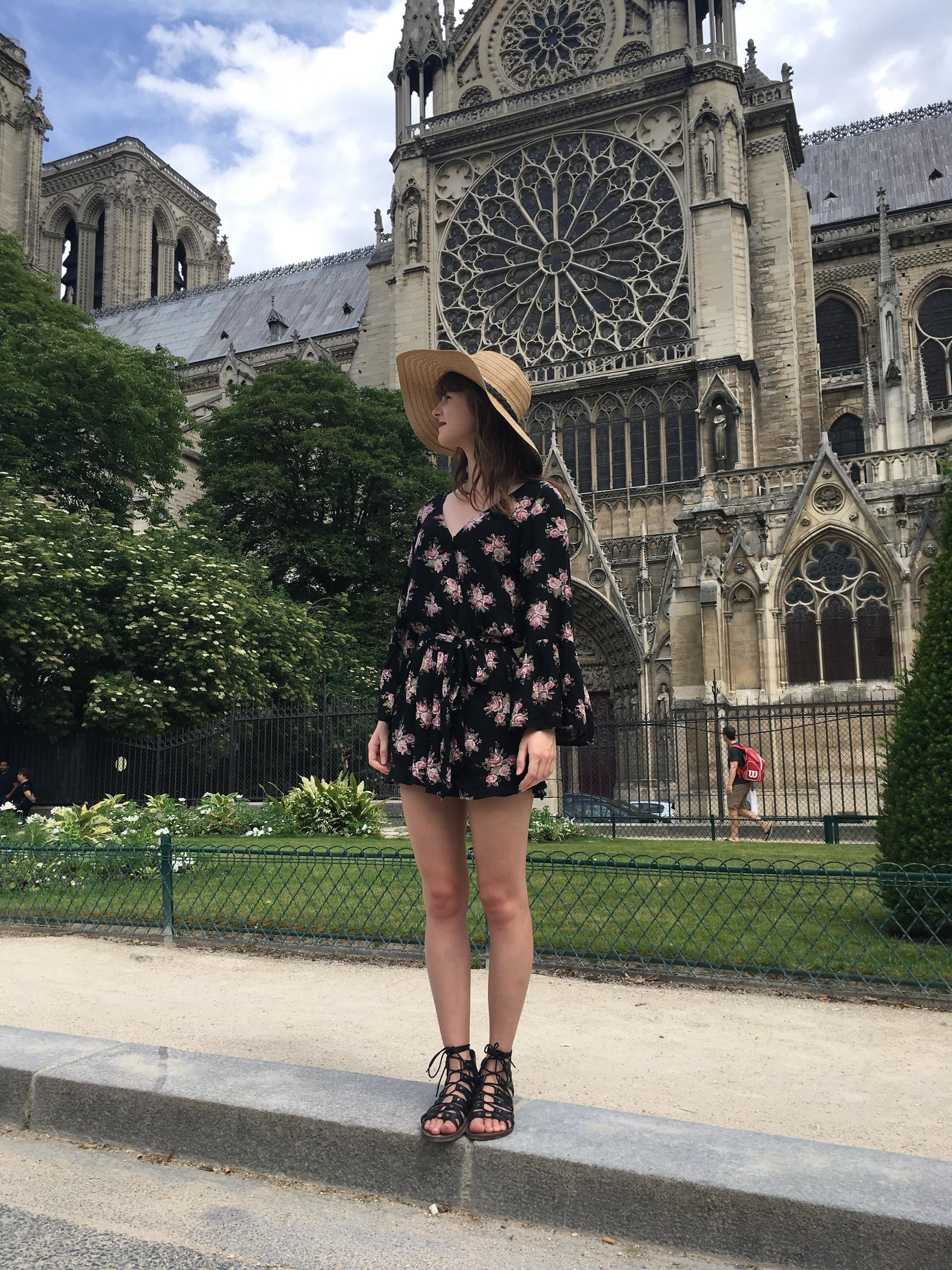 Ayla pursuing the Parisian streets during her summer abroad in France.