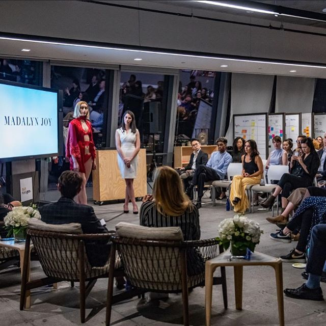 Celebrating 2 years of being in business today!! Finally sharing photos from the @fashionscholarshipfund Grant Accelerator Pitch event in NYC back in the beginning of April. It was an honor pitching our business in front of judges from @instylemagazine, @renttherunway, @houseofwaris, and @amplifyhervc. Thank you for such an incredible experience! Here's to turning 2! xoxo #madalynjoydesigns #ymafsf