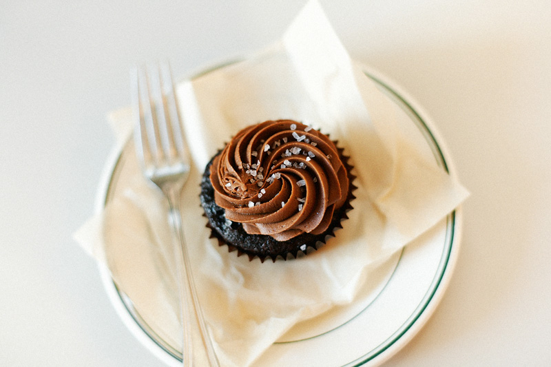 moustache baked goods salted caramel cupcake