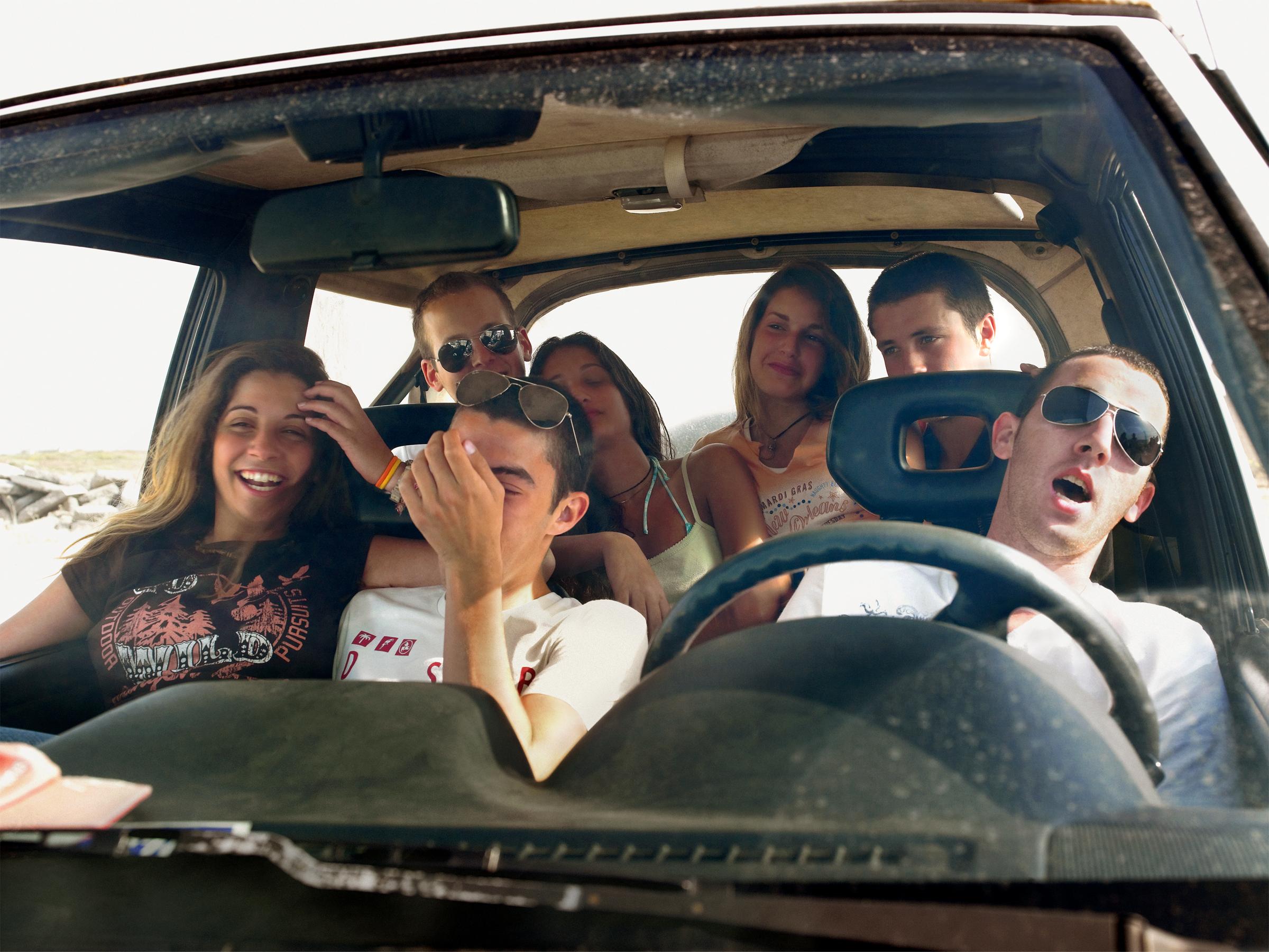Israel Kids In Car Folio Print.jpg