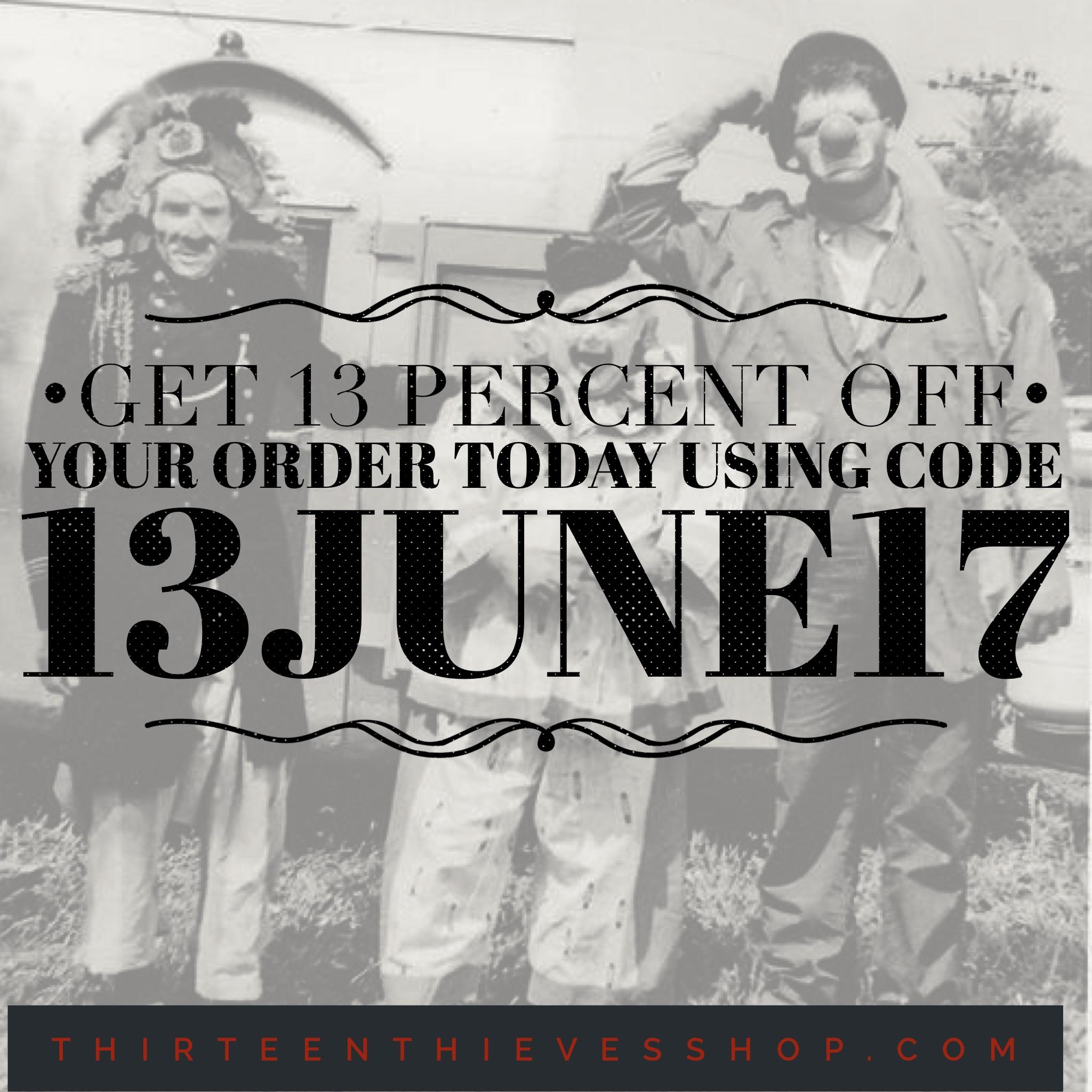 June 13 Sale