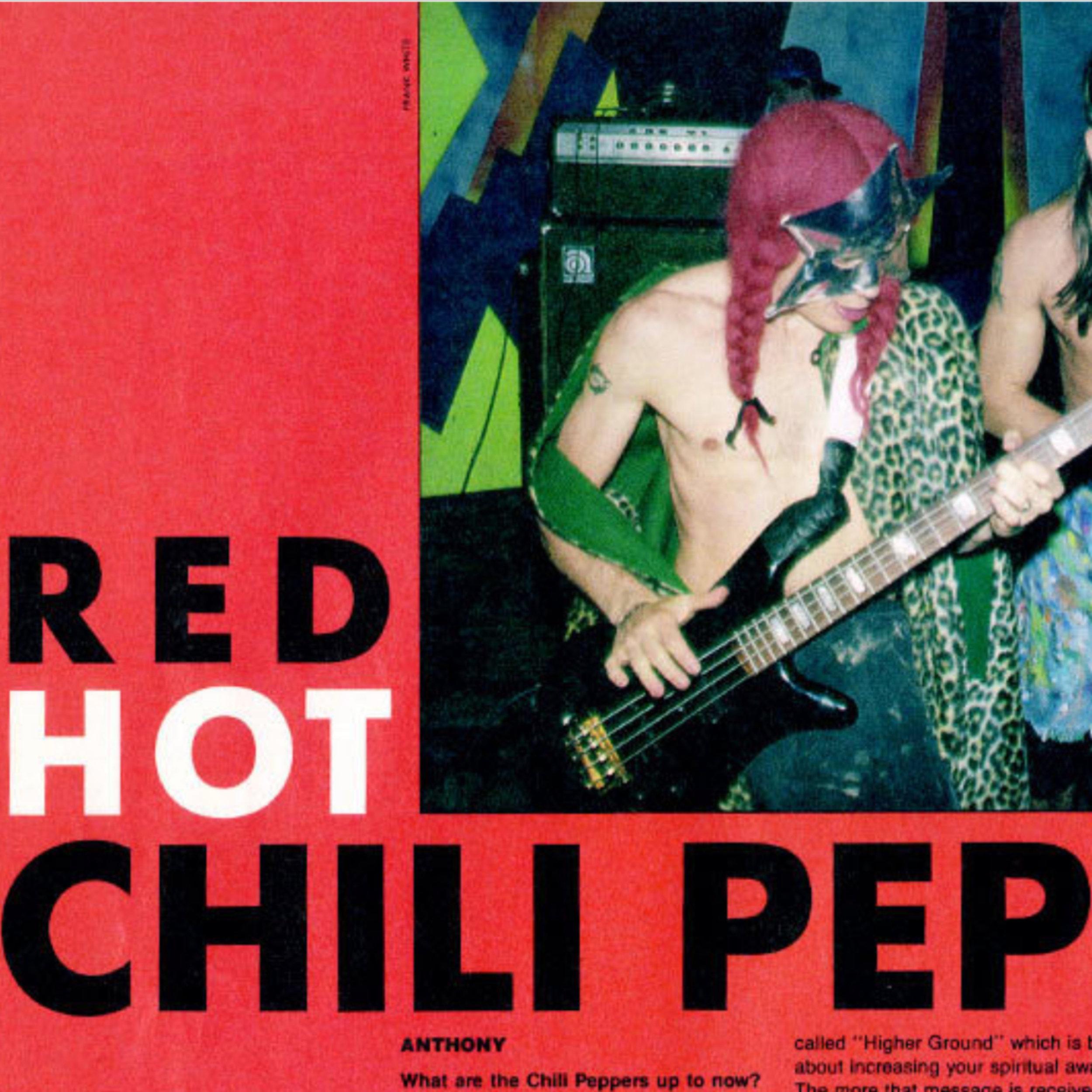 RHCP Thrashin Mag Sept 89