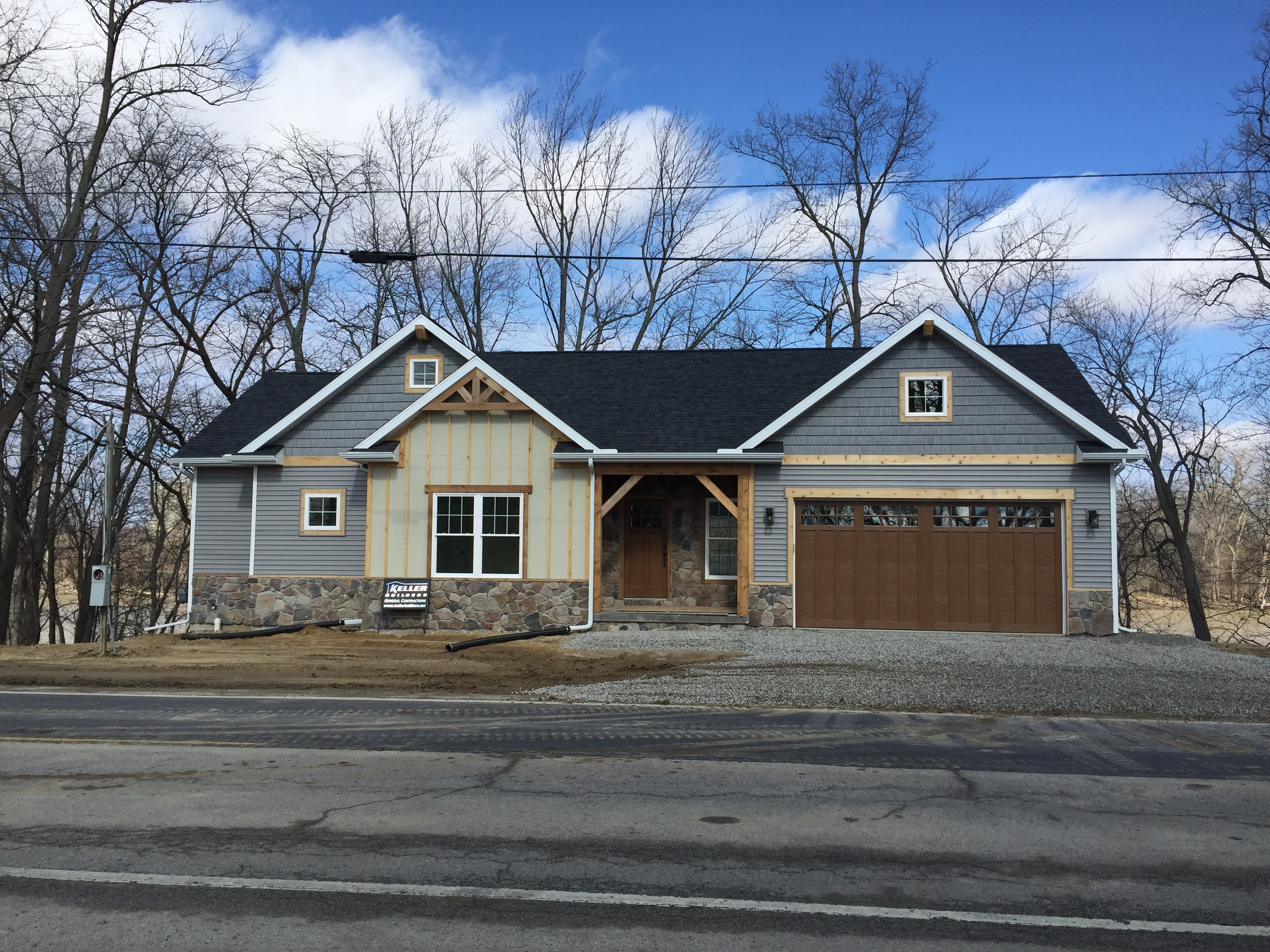 We need a few warm days to paint the exterior and pour the drive and our clients will be moving in.
