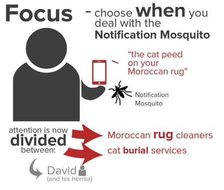 Focus while you're networking - choose when to deal with your notifications