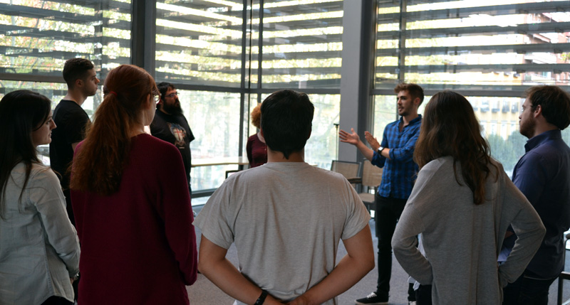 My workshop with Lanzadera del Retiro - looking at how to run with ideas in an elevator pitch